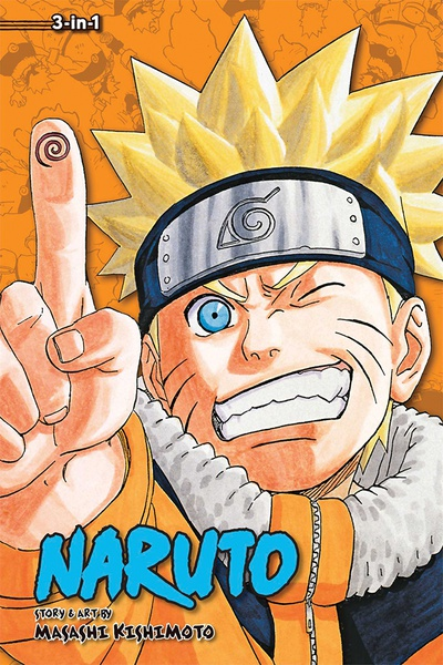 Naruto 3 in 1 Edition Manga Volume 8