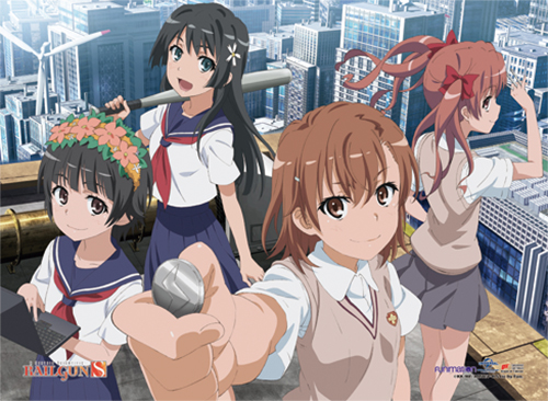 A Certain Scientific Railgun S Group 3 Fabric Poster