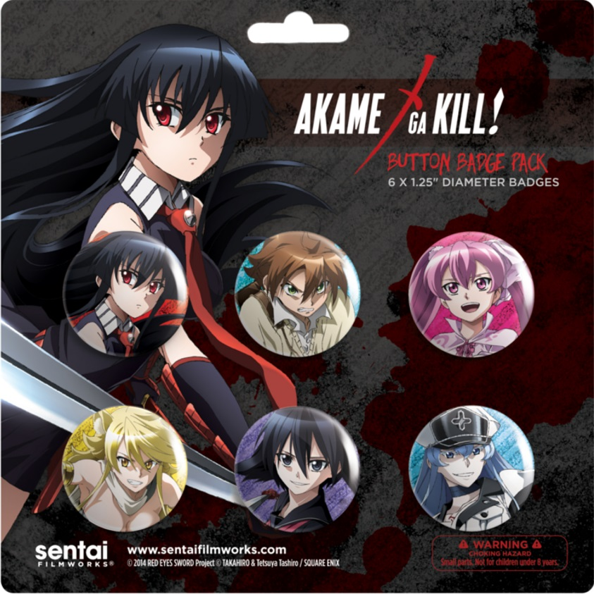 Akame ga Kill Buttons 6-Pack