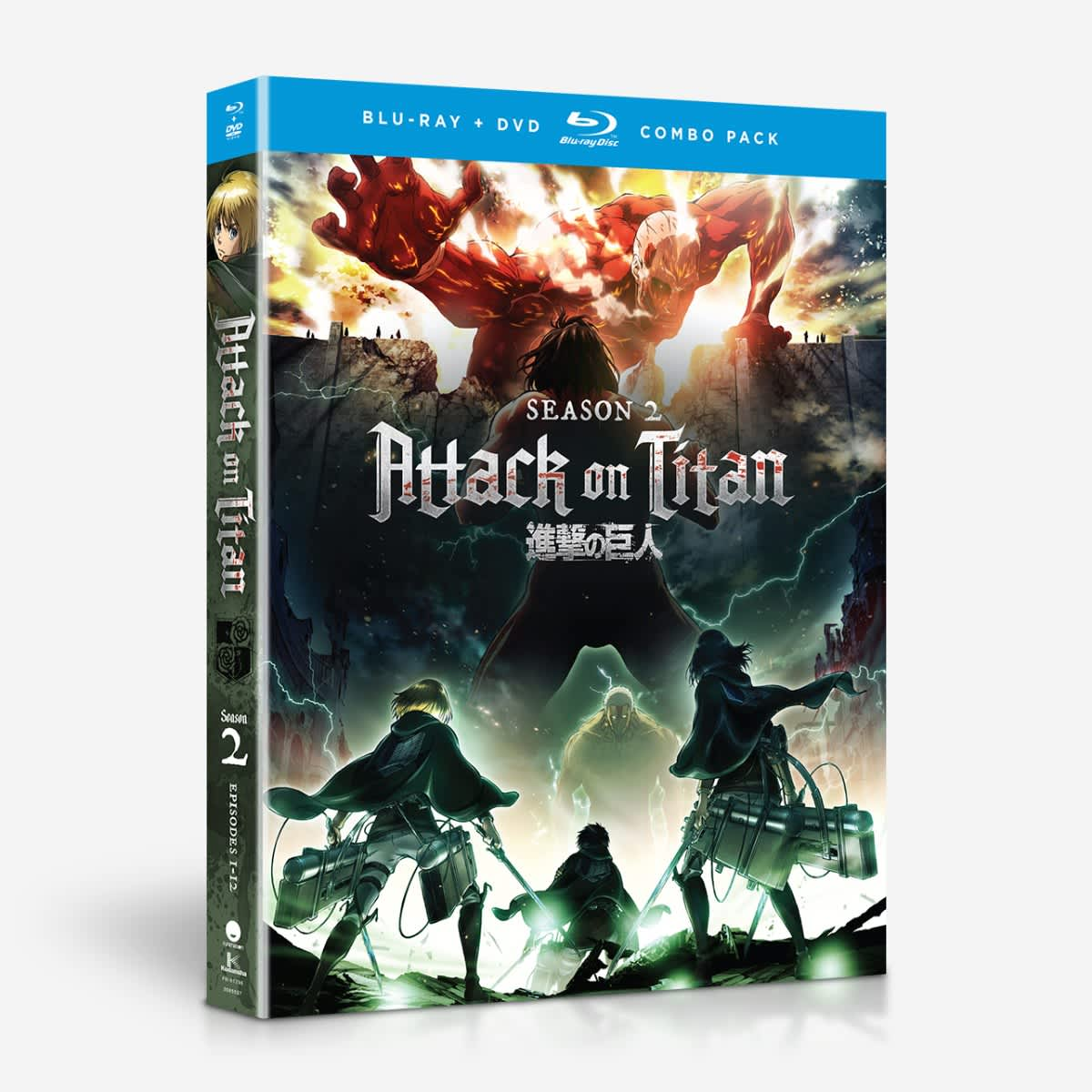 Attack on Titan Season 2 Blu-Ray/DVD