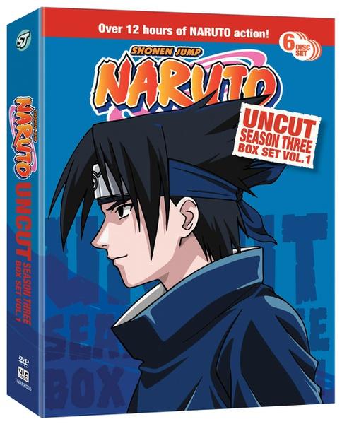 Naruto Season 3 Box Set 1 DVD Uncut