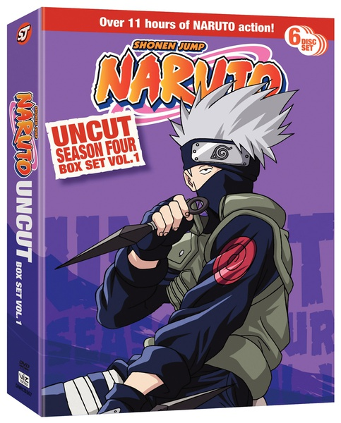 Naruto Season 4 Box Set 1 DVD Uncut