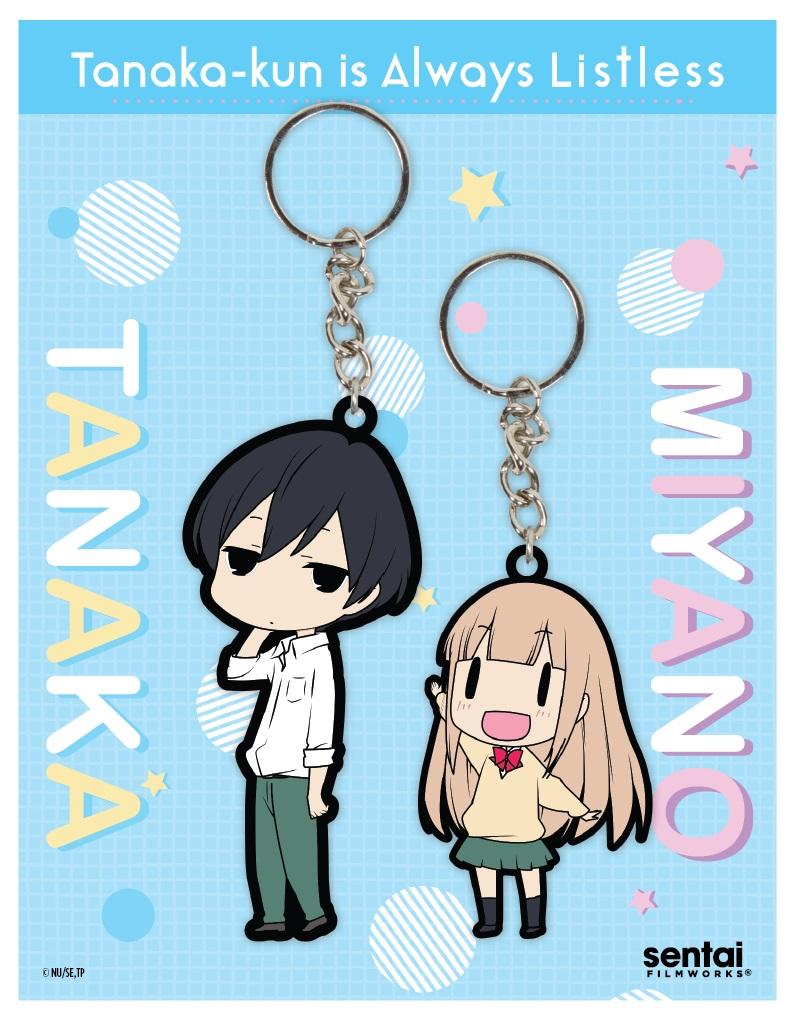 Tanaka-kun Is Always Listless PVC Keychain Set