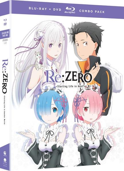 Re:ZERO Starting Life in Another World Season 1 Part 1 Blu-ray/DVD
