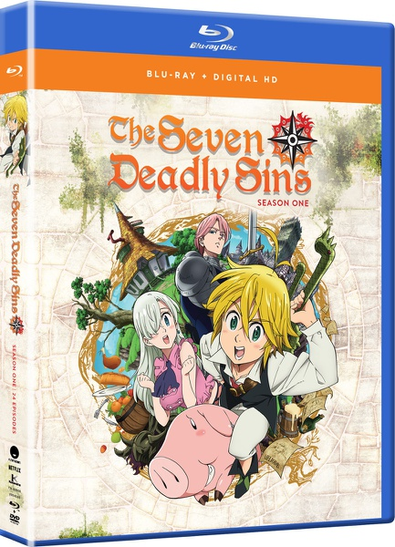 Seven Deadly Sins Season 1 Complete Collection Blu-ray