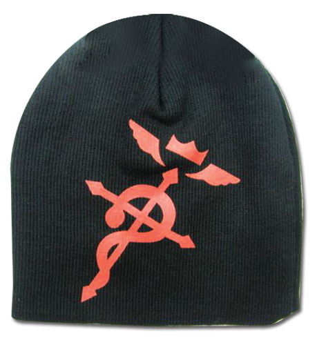 Red Flamel on Black Fullmetal Alchemist Brotherhood Beanie