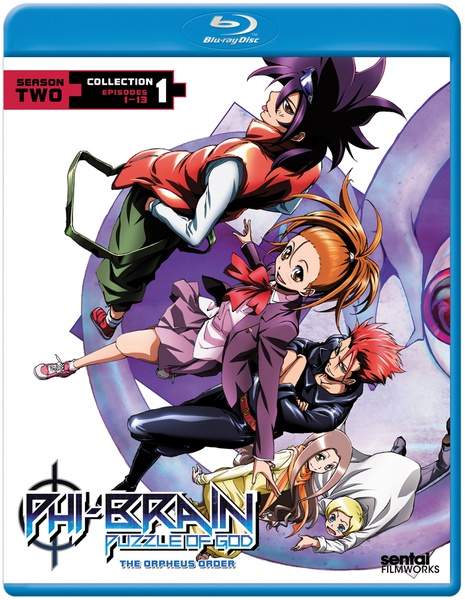 Phi-Brain The Puzzle of God Season 2 Orpheus Order Collection 1 Blu-ray