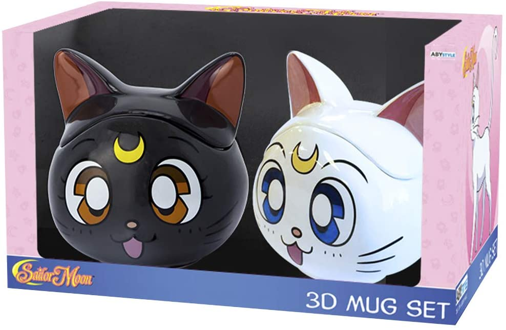 Luna & Artemis 3D Mug Sailor Moon Gift Set