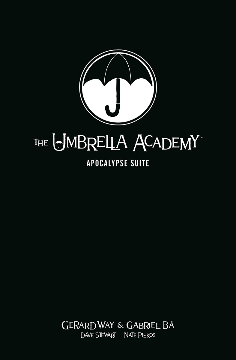 The Umbrella Academy Volume 1 Apocalypse Suite Library Edition Graphic Novel (Hardcover)