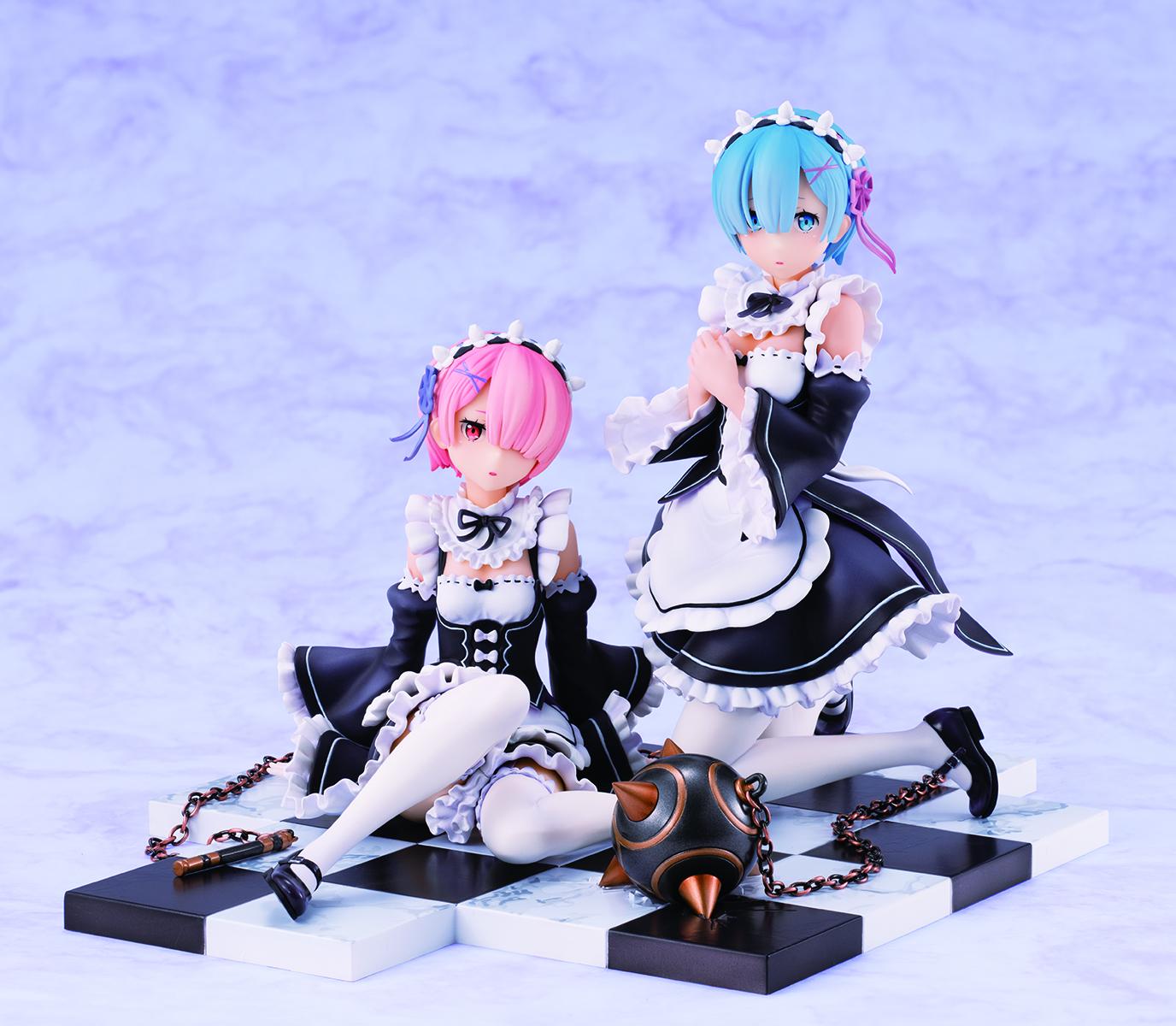 Rem & Ram Special Stand Complete Set Ver Re:ZERO Figure