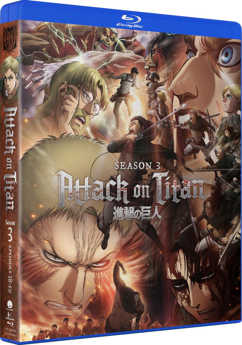 Attack On Titan Season 3 Blu-ray